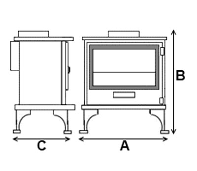 Dunsley Highlander 7 Stove Dimensions